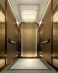 Louis vuitton townhouse ground floor by curiosity the for Modern elevator design