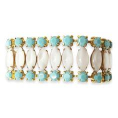 Turquoise & Moonstone Amaryllis Bracelet