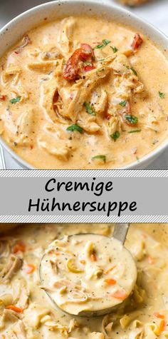 Creamy chicken soup - All Recipes Creamy Chicken Casserole, Chicken Soup, Shrimp Soup, Seafood Soup, Casserole Recipes, Soup Recipes, Cooking Recipes, Good Food, Yummy Food
