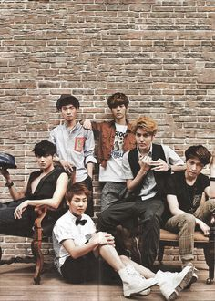 EXO .M.. Very sexy.. But cute lil xiumin looks like a lol kid on time out