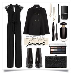 """Date Night: Jumpsuit Style"" by alaria ❤ liked on Polyvore featuring M&S Collection, Monsoon, Jeffrey Campbell, Sole Society, Rebecca Minkoff, Urban Decay, NARS Cosmetics, Victoria's Secret, Lancôme and DateNight"