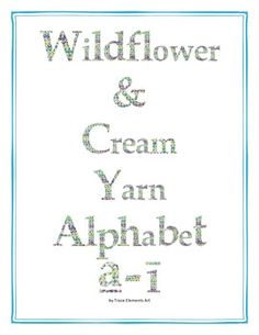 Wildflower & Cream Yarn Alphabet Clip Art Set 3 (Lowercase a-z) English Alphabet, Letter I, Lower Case Letters, Lowercase A, Making Out, Wild Flowers, Clip Art, Notes, Cream