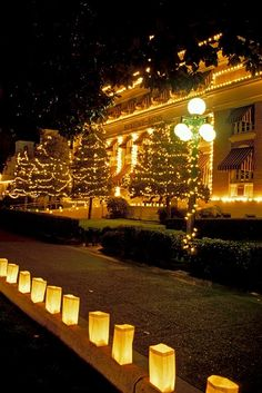 Historic Bathhouse Row and Downtown Hot Springs celebrate the holiday season with lights and decorations | Hot Springs, Arkansas