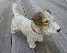 My kind of pet.Antique Hubley Cast Iron Sealyham Dog Door Stop Vintage Dog, Vintage Items, Wire Fox Terrier, Fox Terriers, Diy Doorstop, Dog Items, Iron Doors, Door Stop, Scottie Dog