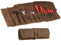 14 Werkzeugfächer - 3 Druckknopffächer für Kleinteile - Verschlussriemen mit Rollenschloss - leer