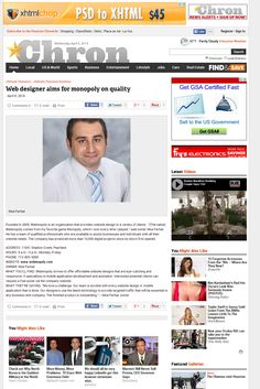 Webinopoly.com got featured in one of Houston's largest online magazines. http://www.chron.com/default/article/Web-designer-aims-for-monopoly-on-quality-5386182.php