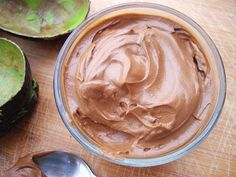 Avocado Chocolate Mousse - skip the agave and use maple syrup instead. Mmmm