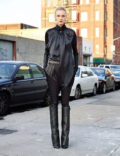 Givenchy boots | The House of Beccaria | Givenchy Black Nappa Leather Shark Tooth Boots