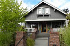 BM Iron mountain on house, BM galveston gray on trim?    Seattle, WA: Lisa Hebner - contemporary - exterior - seattle - Sarah Greenman
