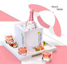 spiritueux magazine: Jacquart, champagne rosé cube. La rituel de servic...