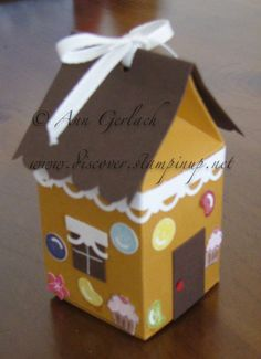 Greetings readers, whilst blog surfing I came across a couple of clever girls who had made up the milk carton die into a cute little gingerb...