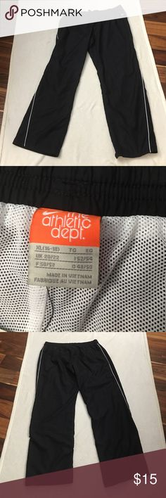 Nike The Athletic Department Track/wind pants NWT never worn. Black. Two pockets on side and one in back. Nike Pants Track Pants & Joggers