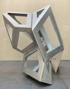 Richard Deacon Two by Two 2010 Galvanised and stainless steel, 242 x 258 x 230 cm