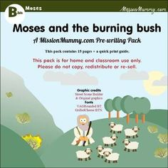 Preschool : Moses and the Burning Bush : 1 week topic pack by MissionMummy Quick Print, Shape Pictures, Burning Bush, Preschool Classroom, Teaching Materials, Mini Books, Curriculum, Burns, Packing