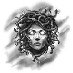black and grey tattoo gangsta ~ black and grey tattoo gangsta Gott Tattoos, Up Tattoos, Tattoo Drawings, Tattoos For Guys, Sleeve Tattoos, Medusa Drawing, Medusa Art, Medusa Gorgon, Medusa Tattoo Design