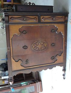 Antique Chest of Drawers in Smokey Slate