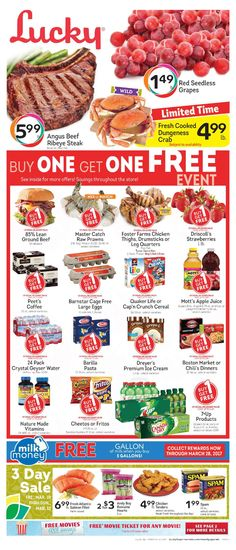 Lucky Weekly Ad March 8 - 14, 2017 - http://www.olcatalog.com/lucky-supermarkets/lucky-weekly-ad.html