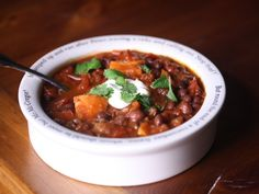"""from """"Eat For Eight Bucks: Black Bean and Sweet Potato Chili 