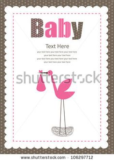 stock vector : baby shower card. vector illustration