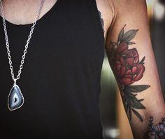 Alice Carrier alice rules Red Peony Tattoo. Wonderland Tattoos Portland, Oregon