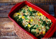 Chicken & Veggie Quinoa Casserole (gluten & dairy free!)