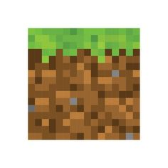 Pixel Grass Block Wall Decal - 4 Sizes Available