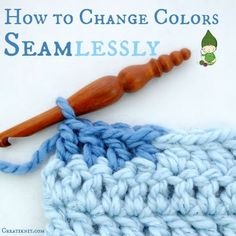 Picture of How to change colors seamlessly in Crochet...Without that little bridge!