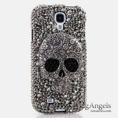 BlingAngels® Samsung Galaxy Note 3 Note III N9000 3D Luxury Bling Case Cover Faceplate Swarovski Crystals Diamond Sparkle bedazzled jeweled Design Front & Back Snap-on Hard Case (100% Handcrafted by BlingAngels) (Large Skull Design):Amazon:Cell Phones & Accessories