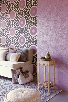 Purple Moroccan Wallpaper