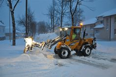 snow plowing is  really Finnish in winter
