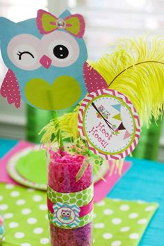 Look Whoo's One Owl Party with So Many Darling Ideas via Kara's Party Ideas KarasPartyIdeas.com