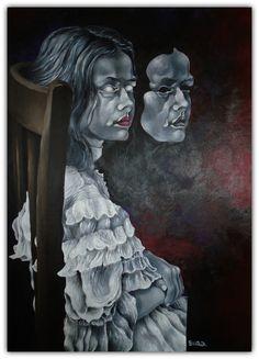 Original Portrait Painting by Bilibok Arnold Lorand Figurative Art, Saatchi Art, Original Paintings, Statue, The Originals, Portrait, Products, Headshot Photography, Sculpture