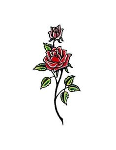 2 Red Roses tattoo
