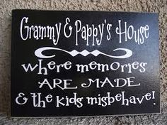 Items similar to Grandma & Grandpa's House Wood Block with vinyl letters - personalized on Etsy