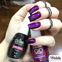 Nails-Ative as notificaçõesSigam:{ Dark Nails, Purple Nails, Perfect Nails, Gorgeous Nails, Dream Nails, Super Nails, Trendy Nails, Manicure And Pedicure, Nails Inspiration