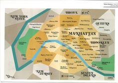 Paris vs. New York map