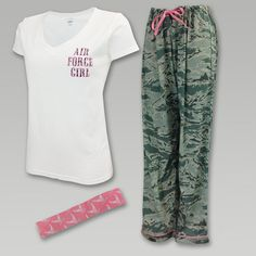 "Air Force Women's Pajama Set...would love to find one in ""Air Force Mom""...love this set"