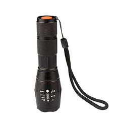 LED Flashlight Torch 1174 With Zoomable Adjustable Focus Battery