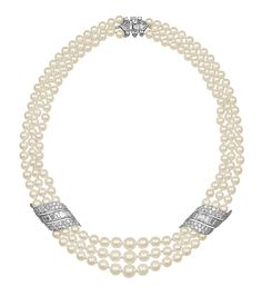 Prince Rainier III of Monaco wedding present to Grace Kelly was a set of diamonds and pearls by Van Cleef & Arpels consisting of a bracelet, a necklace and a pair of earrings.