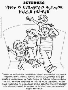 As Tontas Vão Ao Céu: Jornalzinho de Setembro - Viver o Evangelho Abençoa Minha Família (Primária)