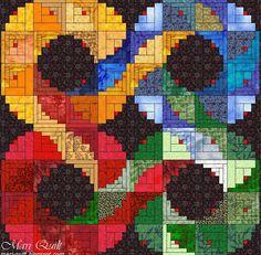 Log cabins 43276846408133127 - Ideas quilting designs patterns scrap log cabins Source by terrythuis Log Cabin Patchwork, Log Cabin Quilt Pattern, Log Cabin Quilts, Log Cabins, Quilt Square Patterns, Patchwork Quilt Patterns, Modern Quilting Designs, Log Cabin Designs, Rainbow Quilt