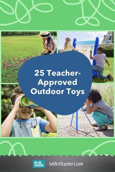 These educational outdoor toys and games are worth checking out. After all, learning doesn't only take place in classrooms! Outside Games For Kids, Outdoor Activities For Kids, Outdoor Learning, Summer Activities, Teaching Kids, Kids Learning, Outdoor Scavenger Hunts, Kids Up, Backyard Games