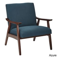 Created to perfectly complement any room, this arm chair comes in a multitude of colors all held by a solid brown dark brown frame. Made from easy-care fabric, this chair is filled with a polyester pl