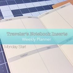 Printable Planner Insert Booklet for Midori Traveler's Notebook in Field Notes, Cahier, Moleskine, Passport, Standard, Narrow sizes. Four different sizes to fit all different kinds of notebooks, or just use them on their own!