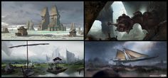 ArtStation - Color Thumbnails - Fantasy Worlds, Yohann Schepacz OXAN STUDIO