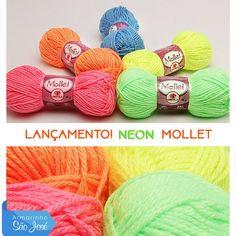 Neon Mollet já chegou no www.armarinhosaojose.com.br ! Garanta os seus! #armarinho #artemanual #artesanato #criatividade #croche #trico #handmade #feitoamao #modainverno #saojosearmarinho