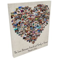 Off to print! canvas with 150 photos! Diy Best Friend Gifts, Cute Gifts For Friends, Friend Crafts, Birthday Gifts For Best Friend, Friend Birthday Gifts, Gifts For Inlaws, Birthday Posters, Family Photo Collages, Friends Poster