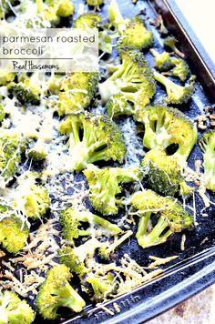 Parmesan Roasted Broccoli | Real Housemoms