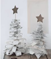 Make unique Christmas decorations of old books | femina.dk