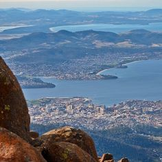 Hobart, from the top of Mt Wellington, Tasmania, Australia. Great Places, Places To See, Beautiful Places, Tasmania, Western Australia, Australia Travel, Bruny Island, Places Around The World, Landscape Photography